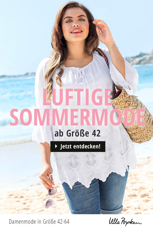 Sommermode Ab Grosse 42 Ulla Popken In 2020 Sommermode Modestil Ulla Popken