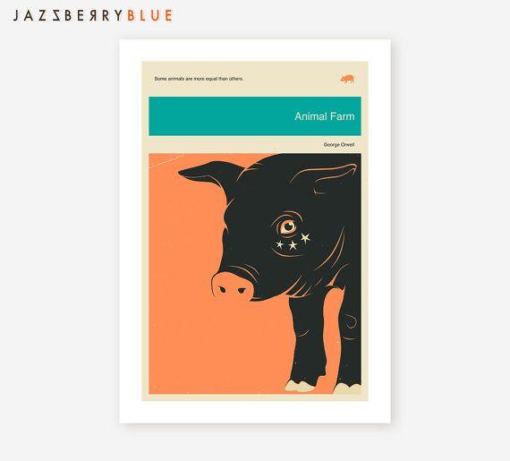 Giclee Fine Art Print Book Cover Style Minimalist Pop Art For The Home Decor Fine Art Prints Farm Animals Art
