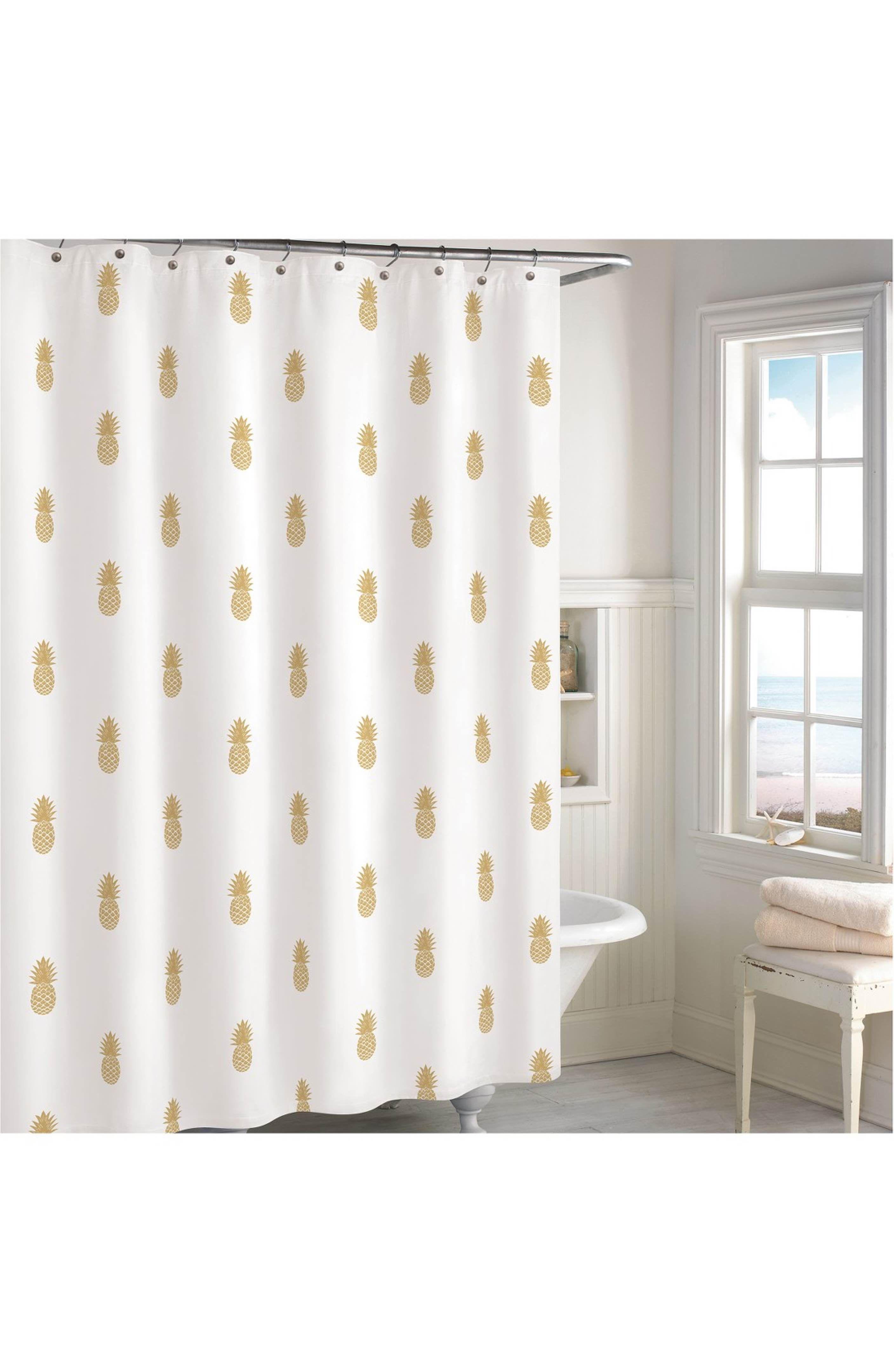 Destinations Golden Pineapple Shower Curtain Nordstrom Pineapple Shower Curtain Gold Shower Curtain Bathroom Themes