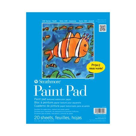 Strathmore Kids Paint Pad 9in X 12in Red Products In 2019