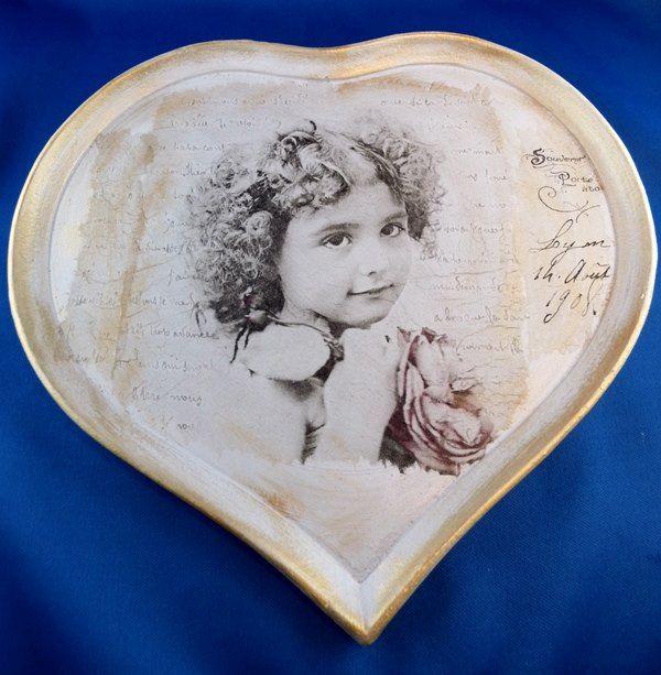 Herziges Vintage-Tablett