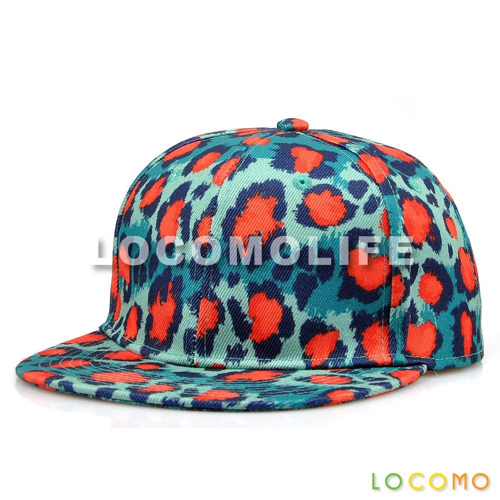 Men Women Colorful Leopard Dotted Pattern Print Cap Blue