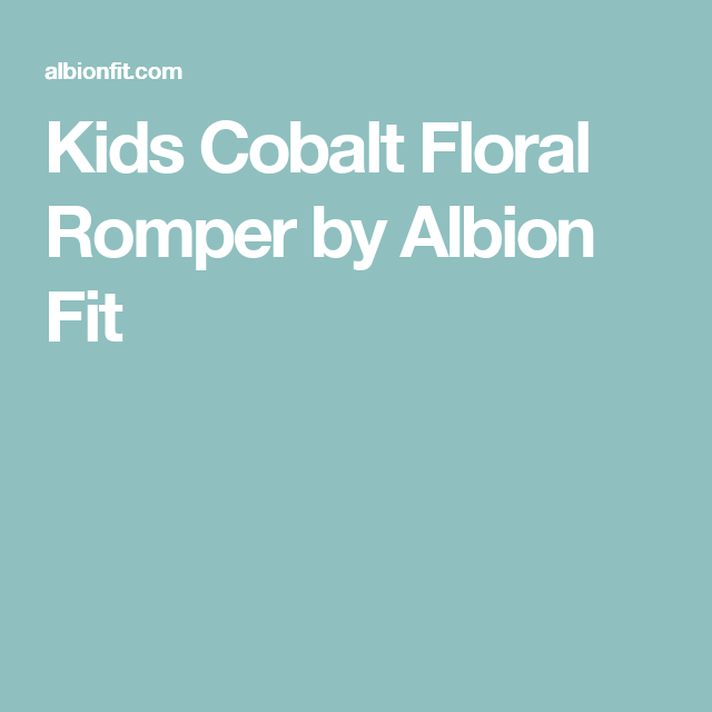 Kids Cobalt Floral Romper by Albion Fit