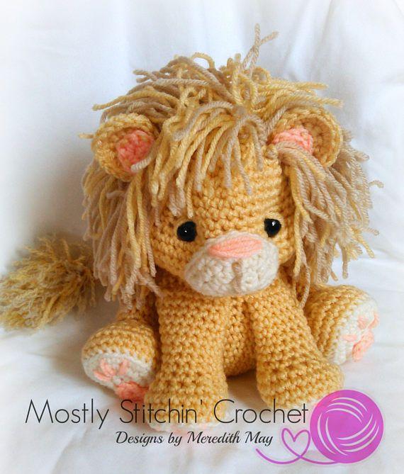 Photo of Lion CROCHET PATTERN; PDF