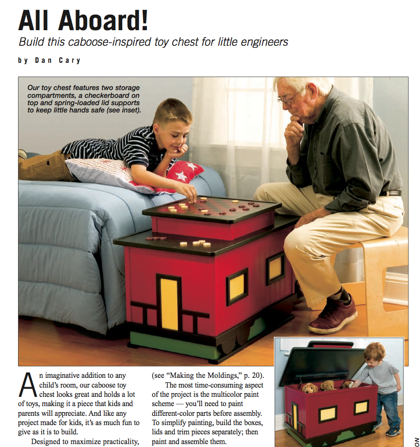 Train Caboose Toy Box Link To Pdf To Download Woodworking Shop