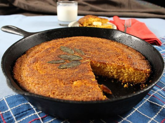 Twinkle Van Winkle: Iron skillet Sweet Potato & Maple Cornbread