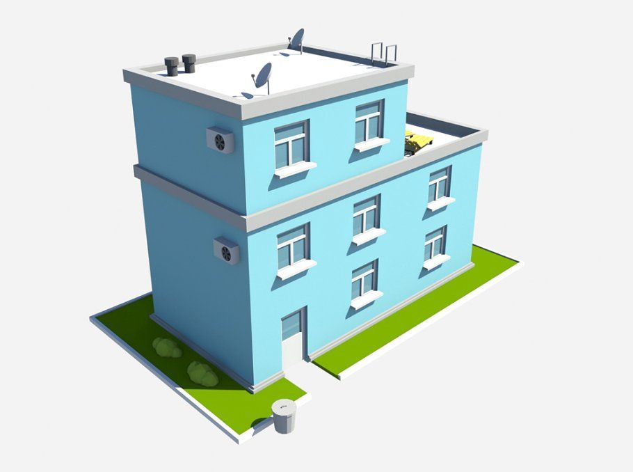 build blue by Gizart on @GraphicsHive #3D #LOWPOLY #LOW POLY