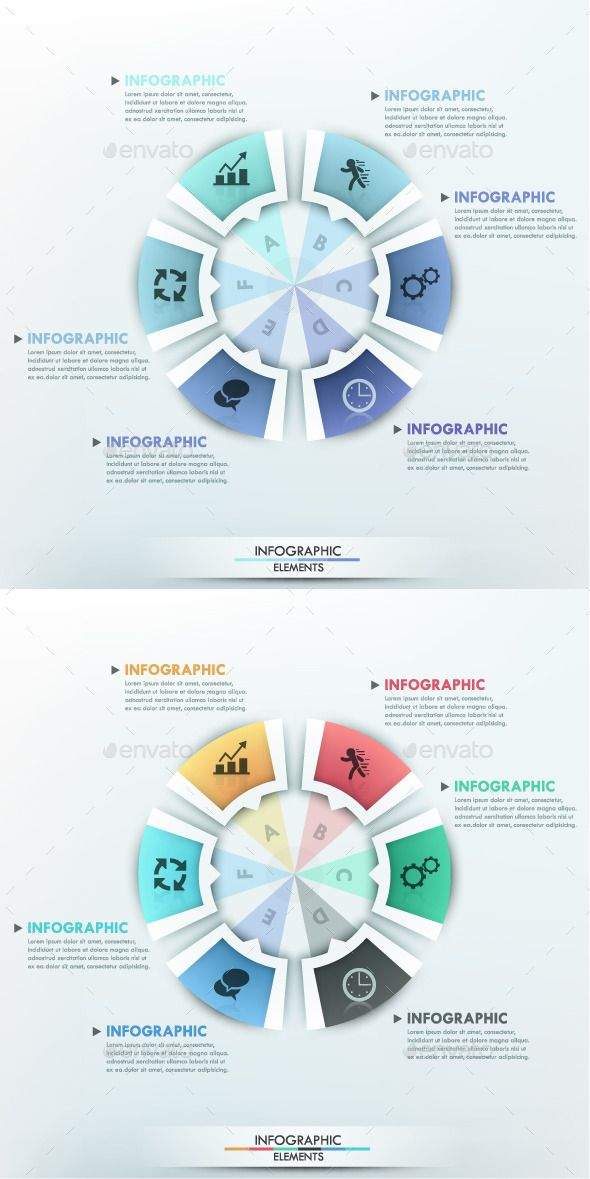 Moderne Infographic Options Circle Template Infographic - circle template
