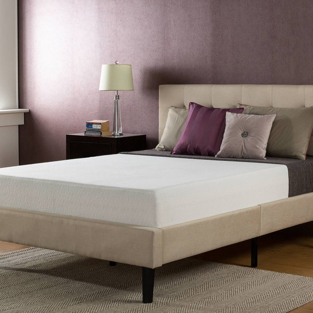 Queen 10 Gel Memory Foam Mattress Zinus Beige Comfort Mattress Queen Memory Foam Mattress Mattress