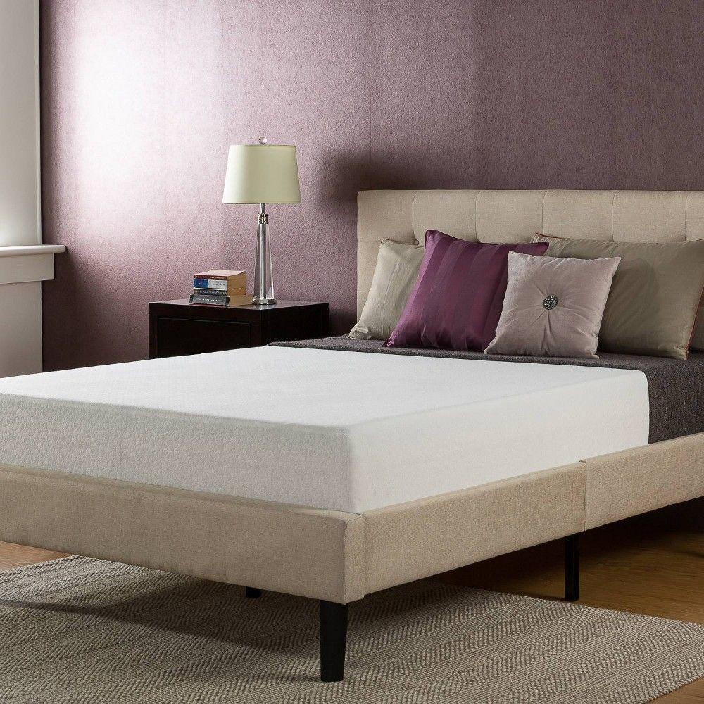 Queen 10 Gel Memory Foam Mattress Zinus Beige Comfort Mattress Queen Memory Foam Mattress Mattress