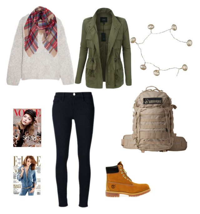 """""""Glamping"""" by vintagegirl8798 on Polyvore featuring Chloé, Frame Denim, LE3NO, Humble Chic, Timberland, 12 Survivors, New Look and glamping"""