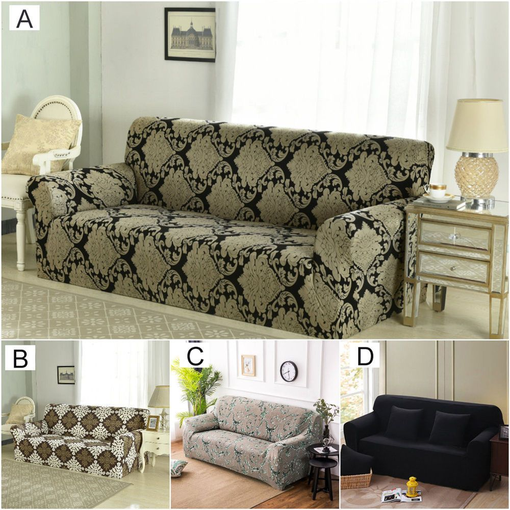 Stretch Fit Sofa Cover Lounge Couch Removable Slipcover Washable