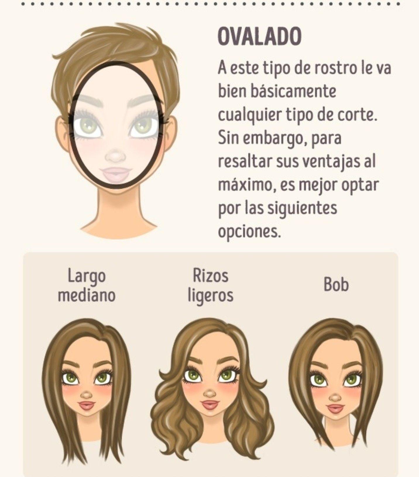 Corte de pelo segun el rostro mujer