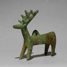 イラン 鹿形の装飾 ルリスタン出...