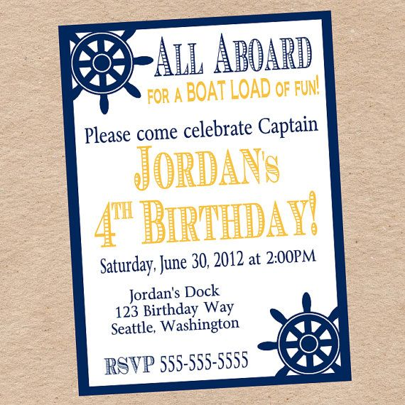 Nautical Birthday Party or Baby Shower Invitation by Decorable Designs