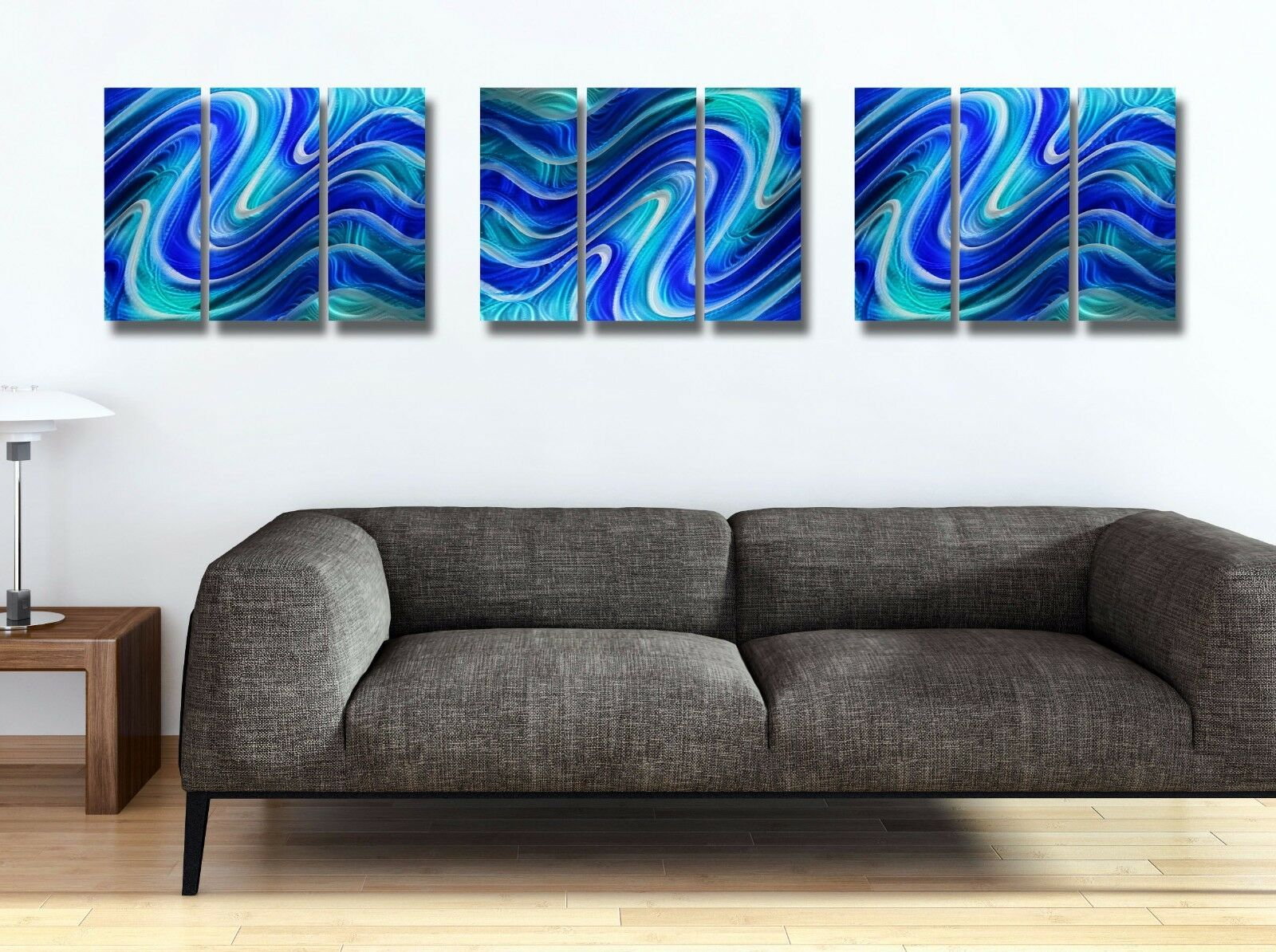 Statements2000 Metal Wall Art Panels Xl Abstract Aqua Blue Water Decor Jon Allen Blue Metal Art Ideas With Images Metal Wall Art Panel Wall Art Metal Wall Art Panels