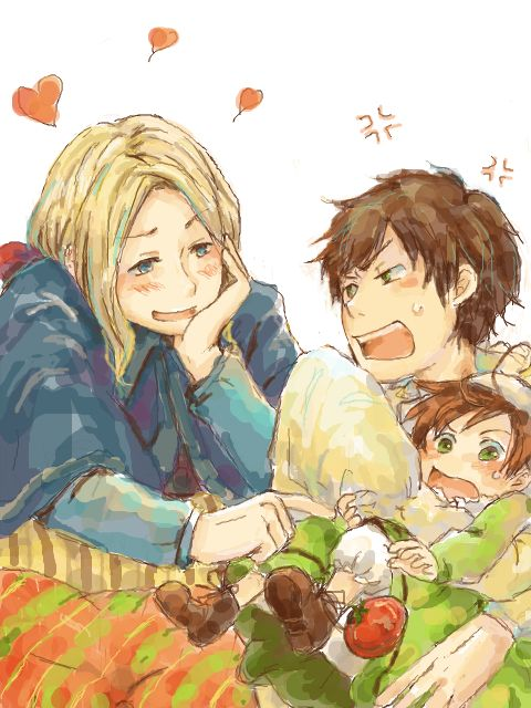 France trying to touch Romano,and Spain so jealous | hetalia