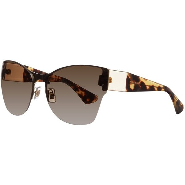 354cf3ce797 Miu Miu MU52PS ZVN1x1 Frameless Oversized Shaped Sunglasses