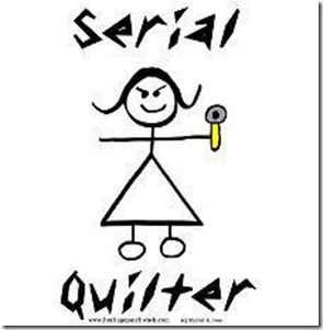 Serial quilter. Could be a character from 'Children of the