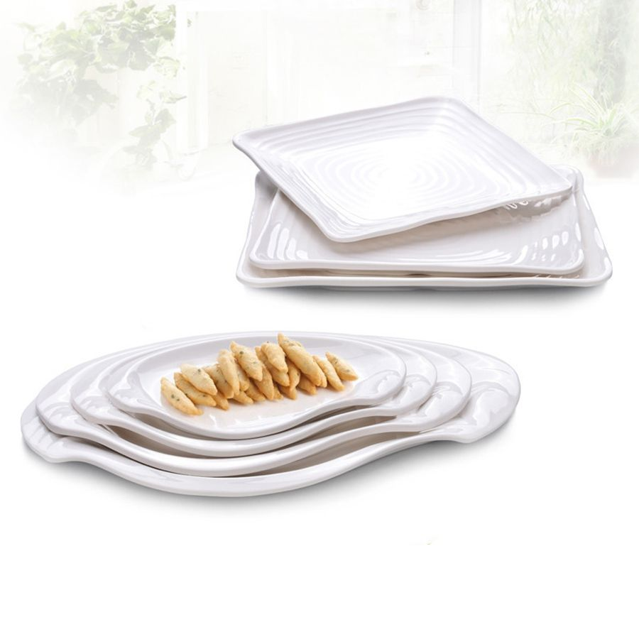 High-quality Western Restaurant White Square Plastic Melamine Fast Food Pasta Sushi Dinner Plate Chafing  sc 1 st  Pinterest & High-quality Western Restaurant White Square Plastic Melamine Fast ...