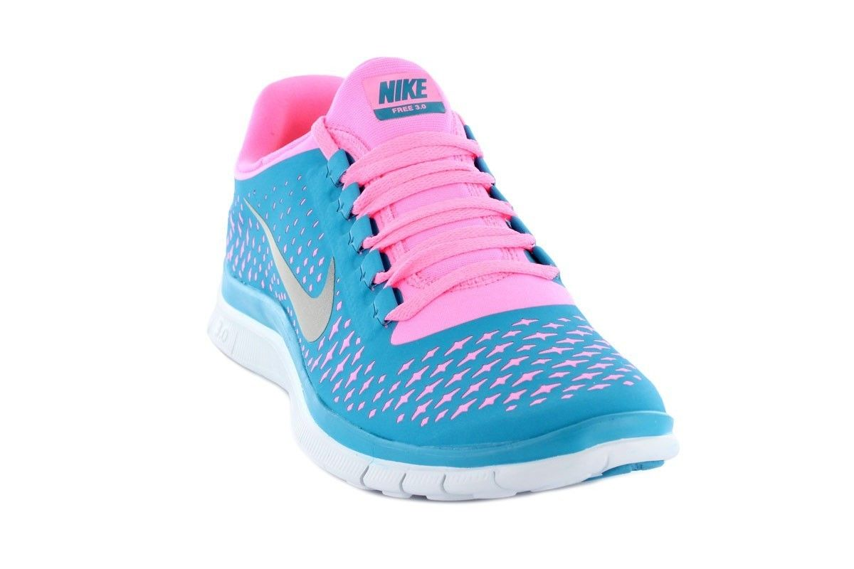Bb121 Women\u0026#39;s Nike Free 3.0 V4 Sky Blue/Pink/White/Silver Logo Running Trainers UK Cheap Outlet | WANT | Pinterest | Nike Free, Nike and Cheap Nike Free Run