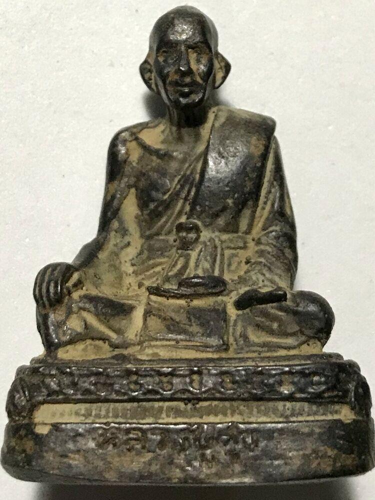 PHRA LP KLUN RARE OLD THAI BUDDHA AMULET PENDANT MAGIC ANCIENT IDOL#6