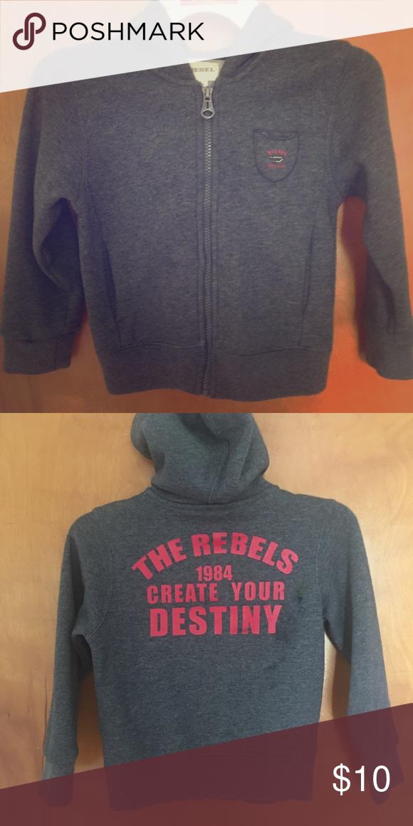 6e763f93886fe Boys Diesel hoodie. Used gently worn. Diesel Shirts   Tops Sweatshirts    Hoodies