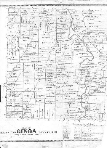 Genoa Ohio Map.1866 Genoa Township My Ancestors Ohio Delaware County Ancestry
