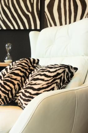 animal print decor room with zebra print wallpaper and accent