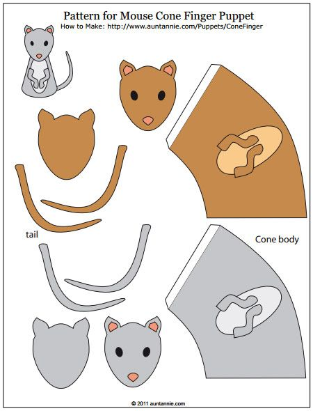 Mouse Finger Puppet Pattern | Mouse ~ DIY Crafts, Lessons, Coloring ...