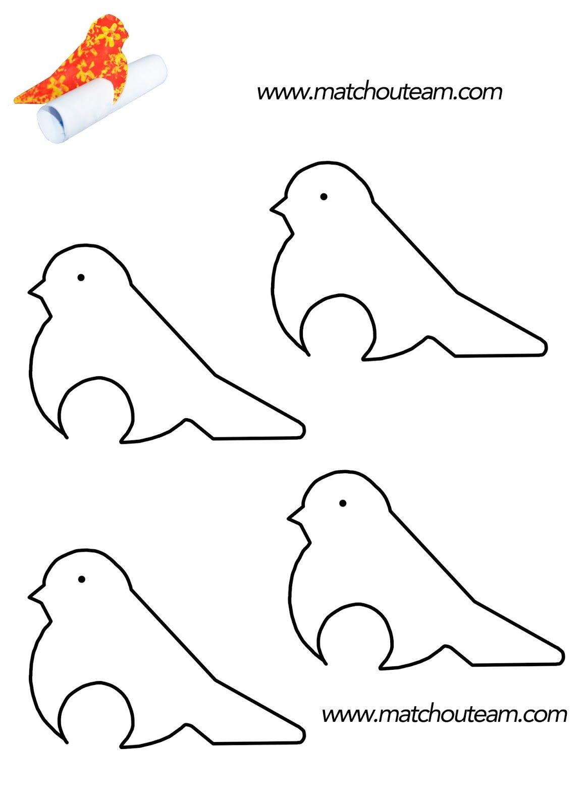 gabarit oiseau