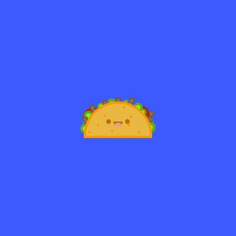 Taco Icon #64x64 #aniconaday #icon #design #flat #taco #mexican - food resume