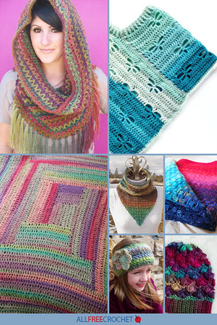 50+ Variegated Yarn Crochet Patterns (With images) | Yarn ...