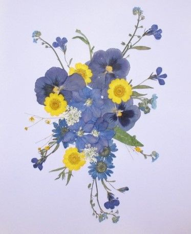 How To Make Greeting Cards With Dried Flowers Ehow Pressed Flower Crafts Pressed Flowers Pressed Flower Art