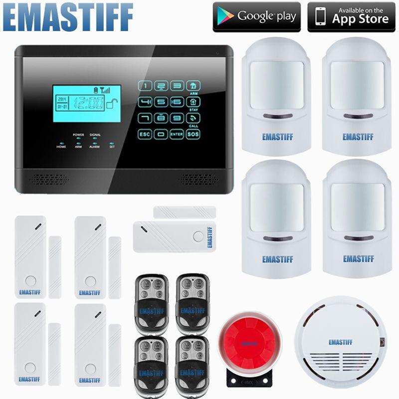Homsecurity Diy Wireless Wired Gsm Home Security Burglar Alarm System Kit With Sos Intercom 4 Pet Immu Home Security Alarm System Home Security Security Alarm