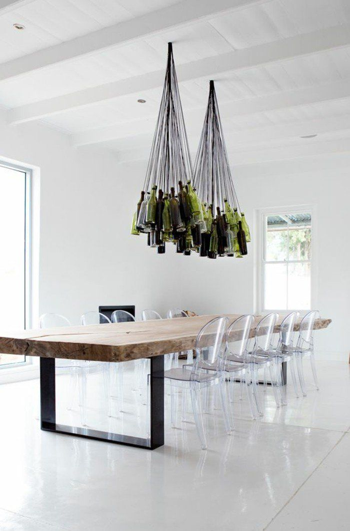 Pourquoi choisir la chaise design transparente? 40 raisons en photos