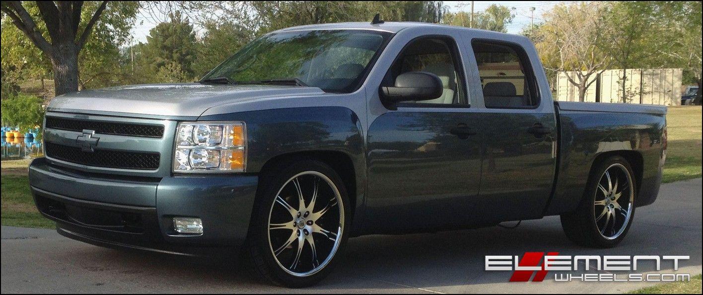 Chevy Silverado Custom Wheels >> Custom Wheels For Chevy Silverado Wheels Tires Gallery Pinterest