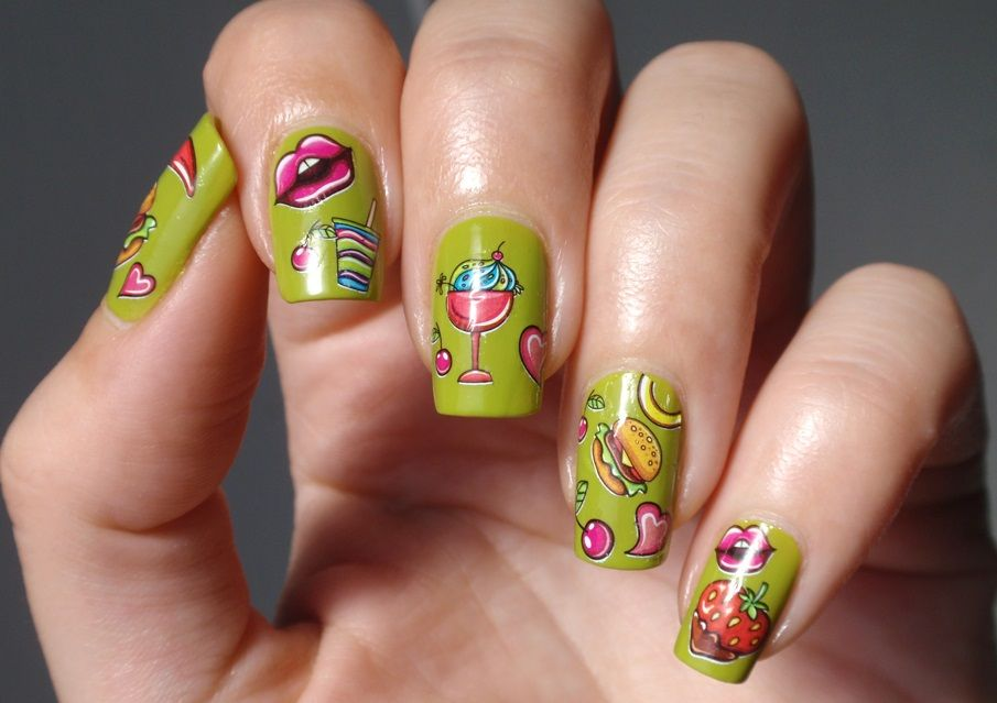 funky nail art 21 | ONGLES , NAILS | Pinterest | Funky nail art and ...