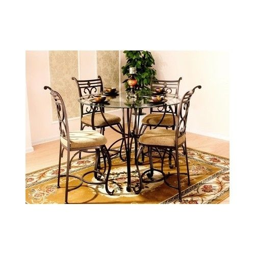 Dining Room Round Glass Table Set W Chairs Great Deal Instant Online In Cart Coupon Glass Dining Table Set Glass Top Dining Table Dinette Sets