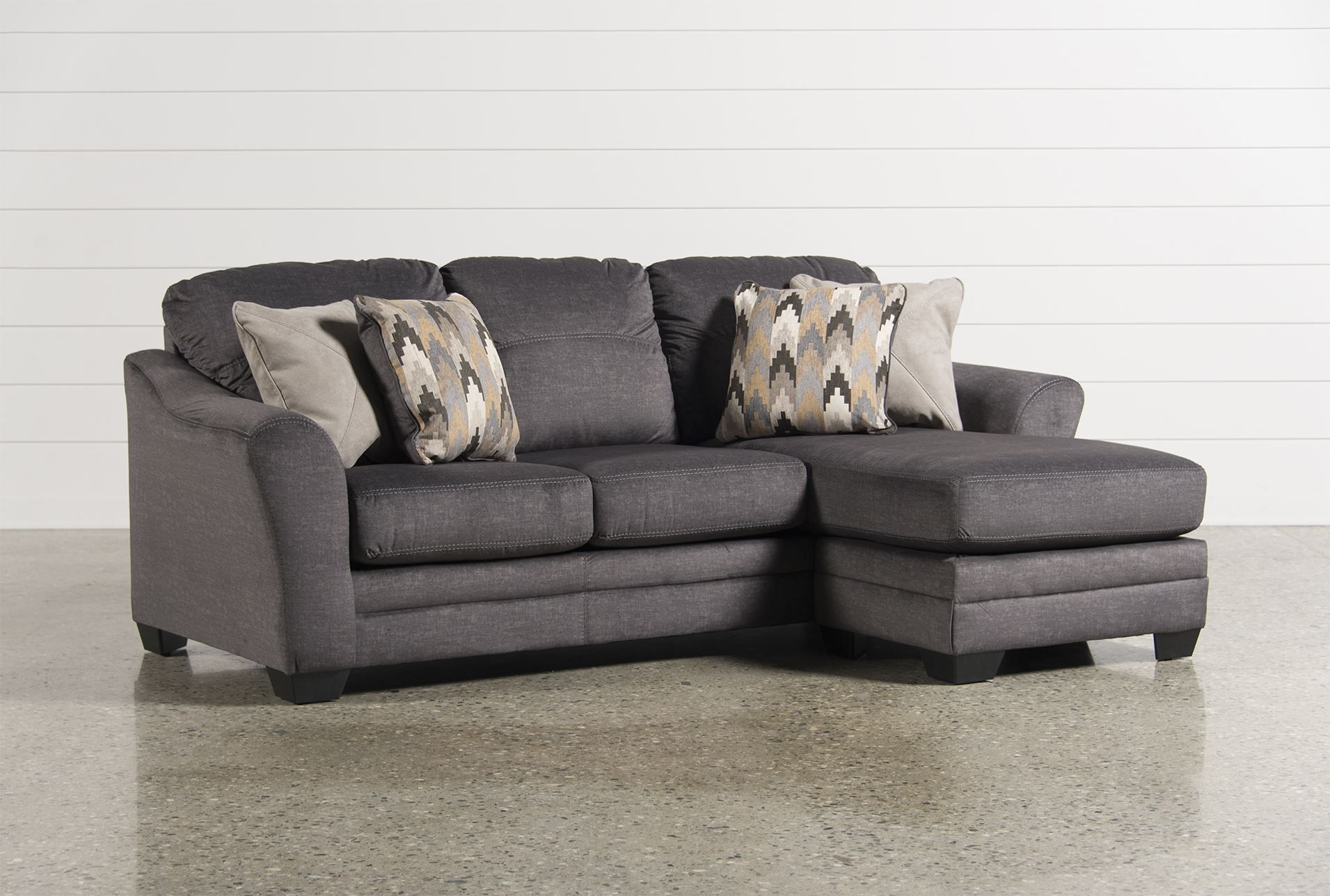 Outstanding Braxlin Charcoal Sofa Chaise Signature Our New Digs Onthecornerstone Fun Painted Chair Ideas Images Onthecornerstoneorg