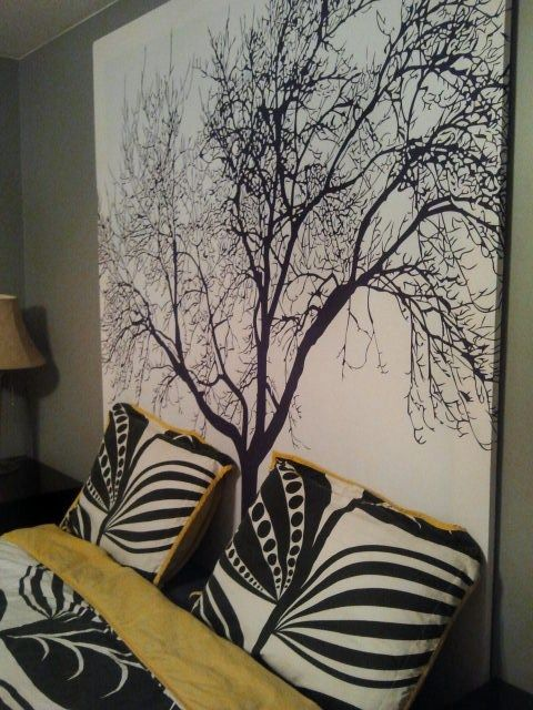 Staple A Shower Curtain To Frame For An Easy Headboard Cost 30