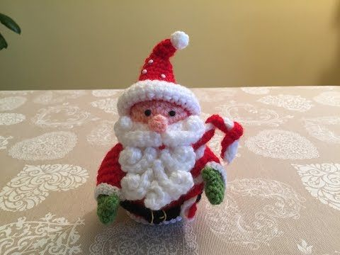 Amigurumi Tutorial Natale : Babbo natale amigurumi tutorial youtube cute crafts