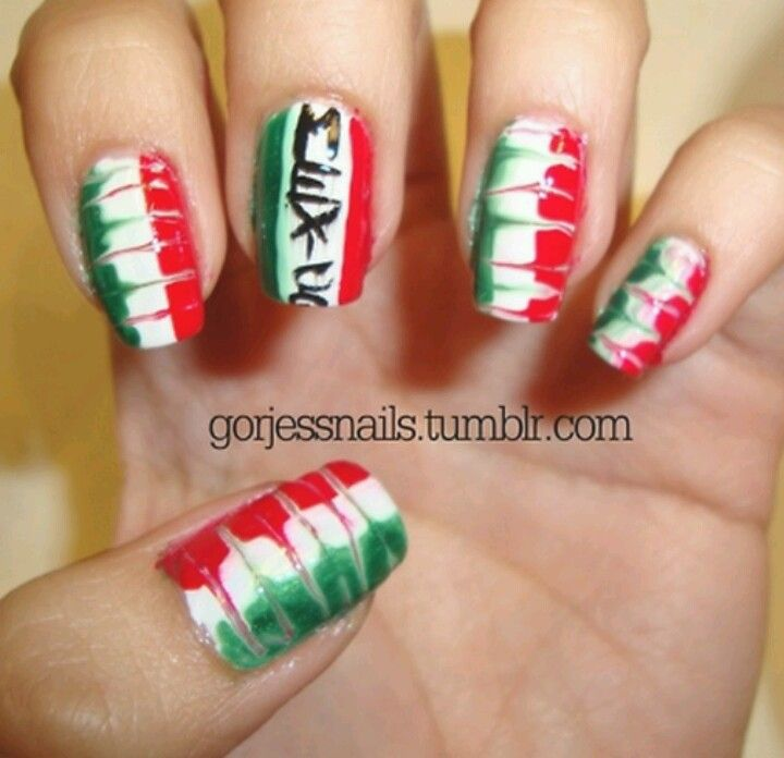 Mexico These Are Awesome Nails Pinterest Mexican Nails