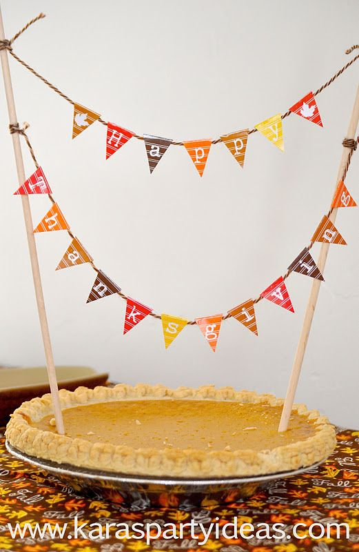 Free Download Mini Happy Thanksgiving Pennant Bunting Banners For Your Pie Or Desserts From Www