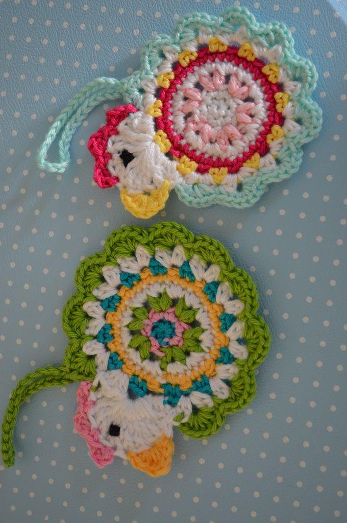 Anhänger für den Osterstrauch. Nach Anleitung von DROPS. #crochet ...