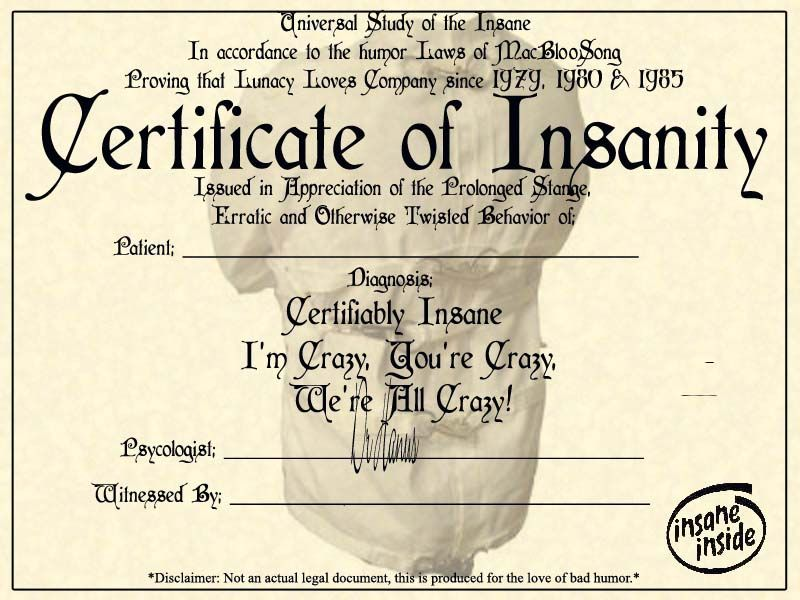 Insane?! Certificate, deviantART and Halloween ideas - name a star certificate template