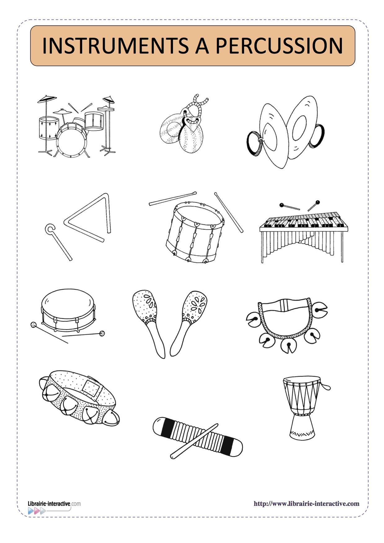 Imagier th matique des instruments de musique projekty do wypr bowania music education - Image instrument de musique a colorier ...