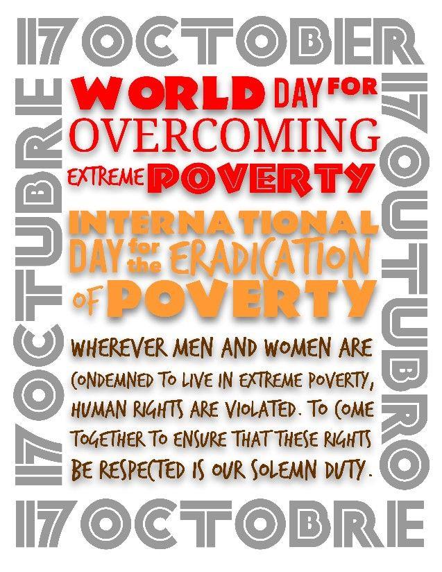 17th October world poverty eradication