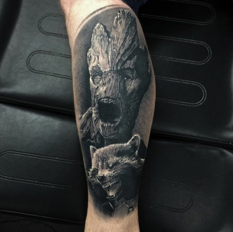 rocket groot guardians of the galaxy tattoos pinterest tattoo marvel tattoos and. Black Bedroom Furniture Sets. Home Design Ideas