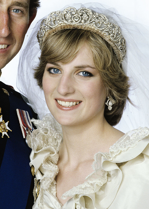 Diana wore her family Spencer Tiara for her wedding to
